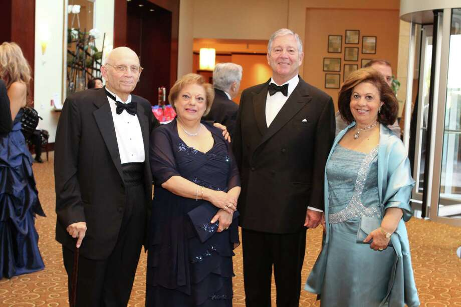 "Dr. Meherwan Boyce and Zarine Boyce, gala co-chairs, with His Royal Highness Crown Prince Alexander II and Her Royal Highness Princess Katherine of Serbia at ""Legends of the Future: An Imperial Evening"" benefiting Virtuosi of Houston at the Hotel Intercontinental. Photo: Priscilla Dickson"