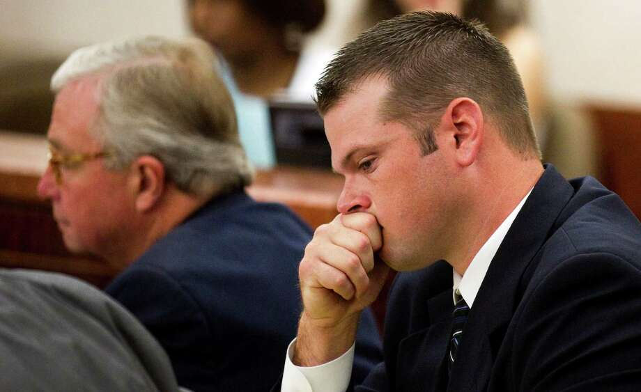 Fired Houston police officer Andrew Blomberg was not following procedure in the arrest of Chad Holley, a police expert from Florida testified Monday. Photo: Brett Coomer / © 2012 Houston Chronicle