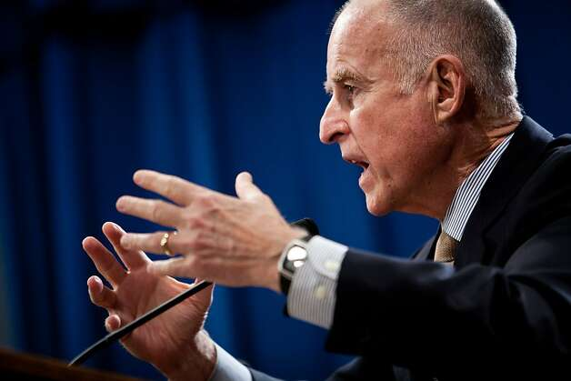 California Governor Jerry Brown announces his revised state budget, cutting an additional $8.3 billion in an effort to close the $15.7 billion deficit at the State Capitol in Sacramento, Calif., May 14, 2012. Photo: Max Whittaker/Prime, Special To The Chronicle