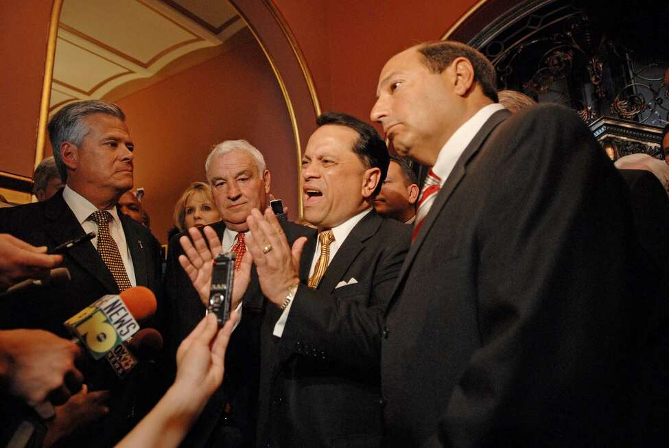 Click through the slideshow to see what happened to the main players in the 2009 Senate Coup. Senator Dean Skelos, far left, businessman Tom Golisano, 2nd from left, Sen. Pedro Espada, Jr., D-Bronx, 3rd from left, and at the Senator Thomas Libous, far right, hold a press conference at the Capitol in Albany, N.Y. on Monday, June 8, 2009. Senator Monserrate along with Senator Pedro Espada joined the Republicans in the Senate to give control of the Senate back to the Republicans. (Paul Buckowski / Times Union)