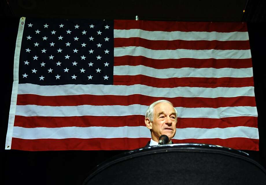 FILE - In this May 5, 2012 file photo, presidential hopeful Ron Paul talks to delegates of the state GOP convention at John Ascauaga's Nugget in Reno. It's a matter of perspective, the Nevada Republican Party is either in shambles after its convention takeover by Ron Paul loyalists or the verge of a unifying rebirth. How it will play out in the upcoming elections and whether Republican Mitt Romney can turn Nevada red in this race for the White House swing state remains to be seen. (AP Photo/Reno Gazette-Journal, Marilyn Newton)  NEVADA APPEAL OUT; NO SALES; MAGS OUT Photo: Marilyn Newton, Associated Press