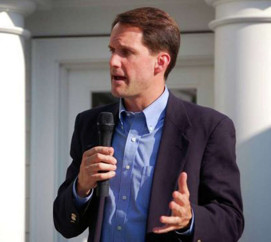 U.S. Rep. Jim Himes, D-4, shown campaigning in this file photo, was nominated by acclamation Monday by district Democrats to run for a third term in November. Photo: File Photo / Fairfield Citizen