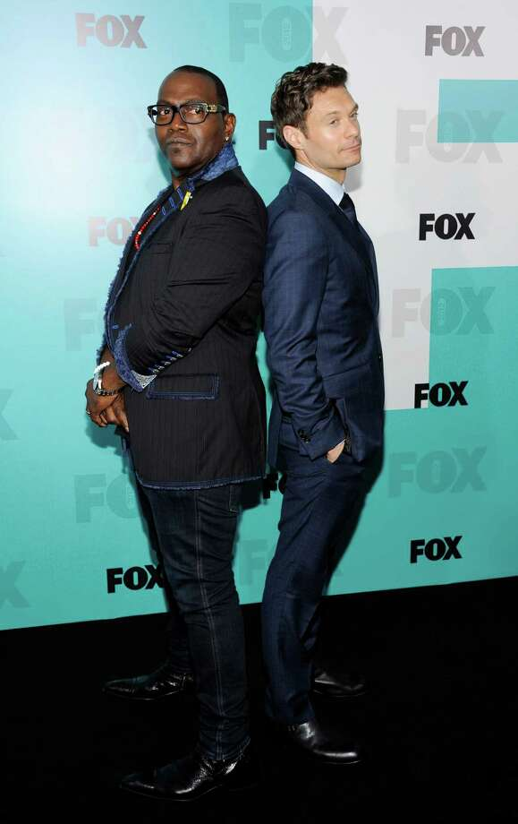 "Randy Jackson, left, and Ryan Seacrest from ""American Idol"" attend the FOX network upfront presentation party at Wollman Rink, Monday, May 14, 2012 in New York. Photo: Evan Agostini, AP / AGOEV"