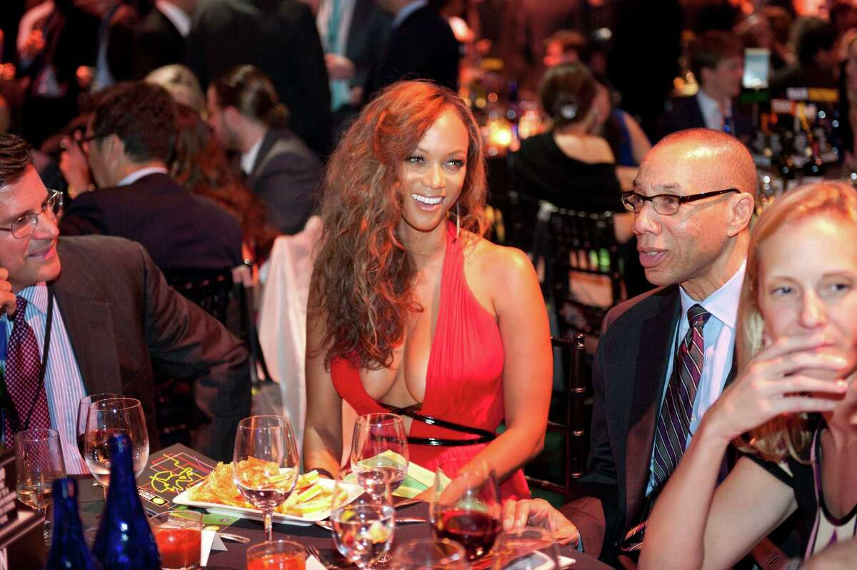 In this photo provided by Robin Hood, television personality Tyra Banks attends at the Robin Hood Annual Benefit, Monday, May 14, 2012, at the Javits Center in New York. Robin Hood funds programs that fight poverty in New York City.