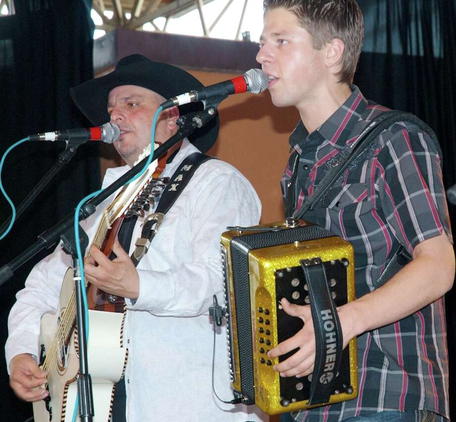 Accordionist Dwayne Verheyden (right) will perform at Saluté with Max Baca of the Texmaniacs. The two first played together at Rosedale Park at last year's Tejano Conjunto Festival. Photo: Courtesy Mario Perez