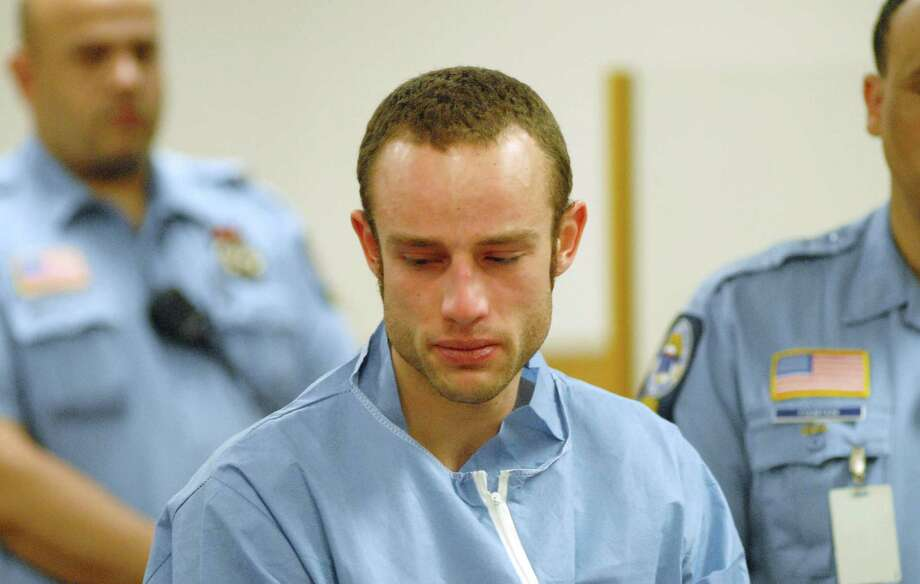 Aaron Ramsey, 22, of Wilton, is arraigned in Norwalk Superior Court in Norwalk, Conn. on Friday May 4, 2012 for the alleged murder of his father. In state Superior Court in Stamford, Conn., on Tuesday, May 15, 2012, Ramsey asked for a transfer to a high-security prison meant for inmates with mental health issues during a pre-trail hearing. Photo: Dru Nadler / Stamford Advocate Freelance
