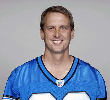 This 2003 photo provided by the NFL shows Ty Detmer wearing a Detroit Lions jersey. Heisman Trophy winner and BYU star Detmer has been selected to the College Football Hall of Fame. The National Football Foundation announced on ESPN that Detmer will be part of a class of 14 former players and three former coaches who will be inducted into the Hall of Fame in December. The rest of the class will be revealed Tuesday, May 15, 2012, in New York.  (AP Photo/NFL Photos) Photo: NFL, HOEP