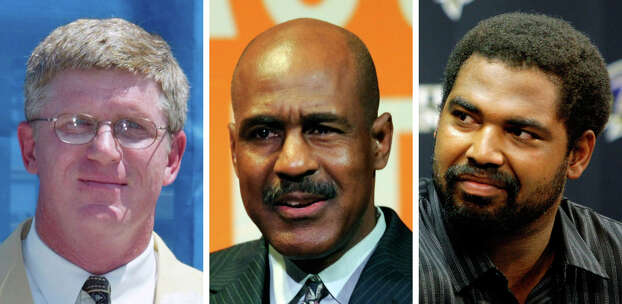 FILE - From left are Dave Casper, in 2002; Art Monk, in 2011 and Jonathan Ogden, in 2008. Casper, Monk and Ogden are among 14 former players who have been selected to the College Football Hall of Fame, Tuesday, May 15, 2012. (AP Photo/File) Photo: STF