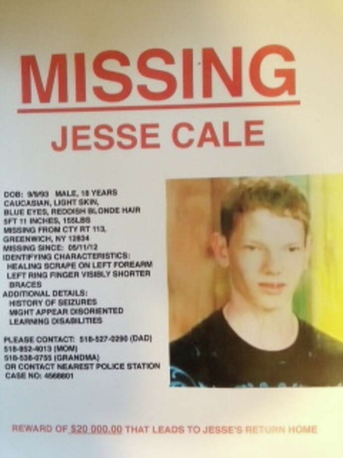 This poster tells the story of missing teenager Jesse Cale who vanished over the weekend from a  campsite in Greenwich.