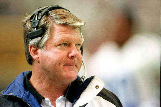 Dallas Cowboys head coach Jimmy Johnson watches from the sidelines as the Atlanta Falcons pull out to an early lead at the Georgia Dome in Atlanta, Ga., Nov. 21, 1993.  (AP Photo/Ric Feld) Photo: RIC FELD, STF / 1993 AP