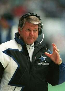 Dallas Cowboys coach Jimmy Johnson paces the sidelines, in this 1994 photo. (AP Photo/Ron Heflin) Photo: RON HEFLIN, STF / AP1994