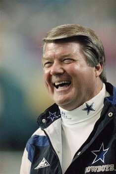 Dallas Cowboys coach Jimmy Johnson finds a lot to smile about before Super Bowl XXVIII on Sunday, Jan. 30, 1994 in Atlanta, as his Cowboys get ready to defend their Super Bowl championship against the Buffalo Bills. (AP Photo/Doug Mills) Photo: Doug Mills, STR / AP1994