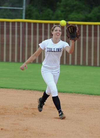 Klein Collins junior infielder Tayler Atkinson and the Lady Tigers have had plenty to smile about during the 2012 playoffs. Photo: L. Scott Hainline / The Chronicle