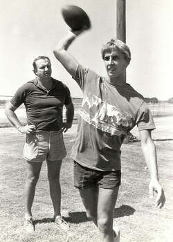 Ty Detmer and his father Sonny Detmer. Photo: Express-News