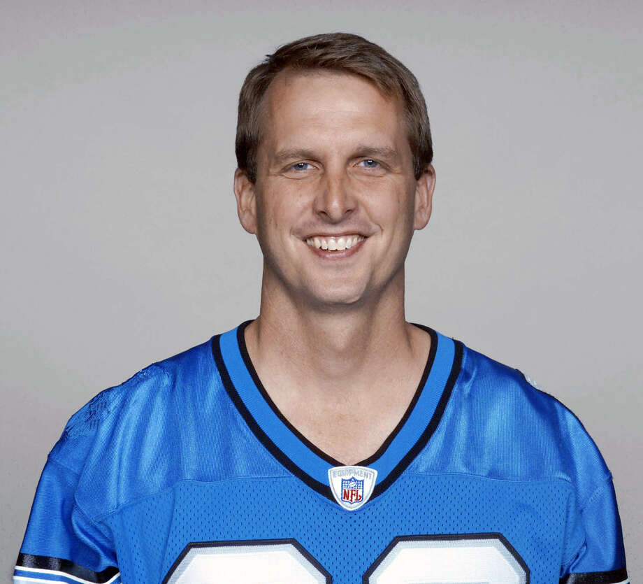 This 2003 photo provided by the NFL shows Ty Detmer wearing a Detroit Lions jersey. Heisman Trophy winner and BYU star Detmer has been selected to the College Football Hall of Fame. The National Football Foundation announced on ESPN that Detmer will be part of a class of 14 former players and three former coaches who will be inducted into the Hall of Fame in December. The rest of the class will be revealed Tuesday, May 15, 2012, in New York.  (AP Photo/NFL Photos) Photo: Express-News