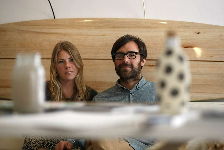 Serena Mitnik-Miller and Mason St. Peter, noted locally for living comfortably in a 400-square-foot Outer Sunset bungalow, moved up last year to a two-bedroom, below. They continue to find ways to maximize the use of space. Photo: Sean Culligan, The Chronicle