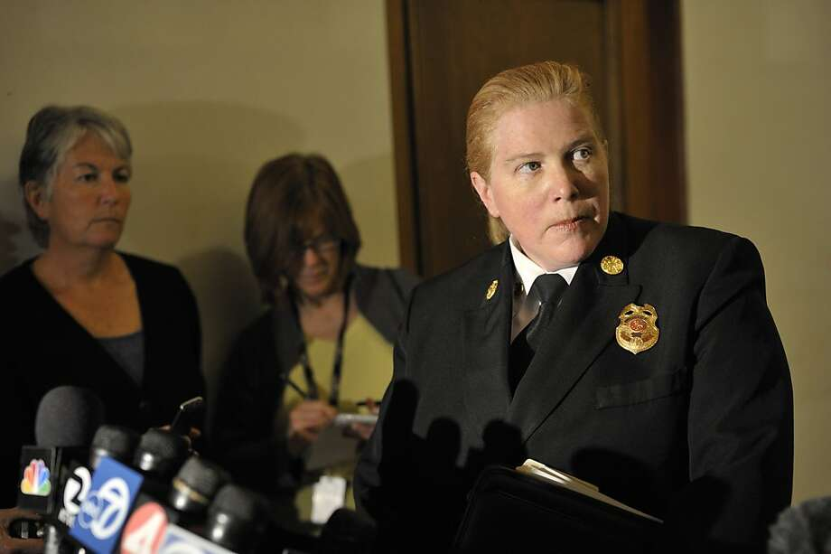 San Francisco Fire Chief Joanne Hayes-White speaks to the media after a meeting with the mayor and city officials about health and legal issues surrounding the Occupy San Francisco protests. Photo: David Butow, Special To The Chronicle