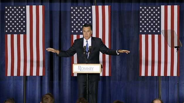 Republican presidential candidate, former Massachusetts Gov. Mitt Romney speaks during a campaign stop, Tuesday, May 15, 2012, in Des Moines, Iowa. (AP Photo/Charlie Neibergall) Photo: Charlie Neibergall, Associated Press