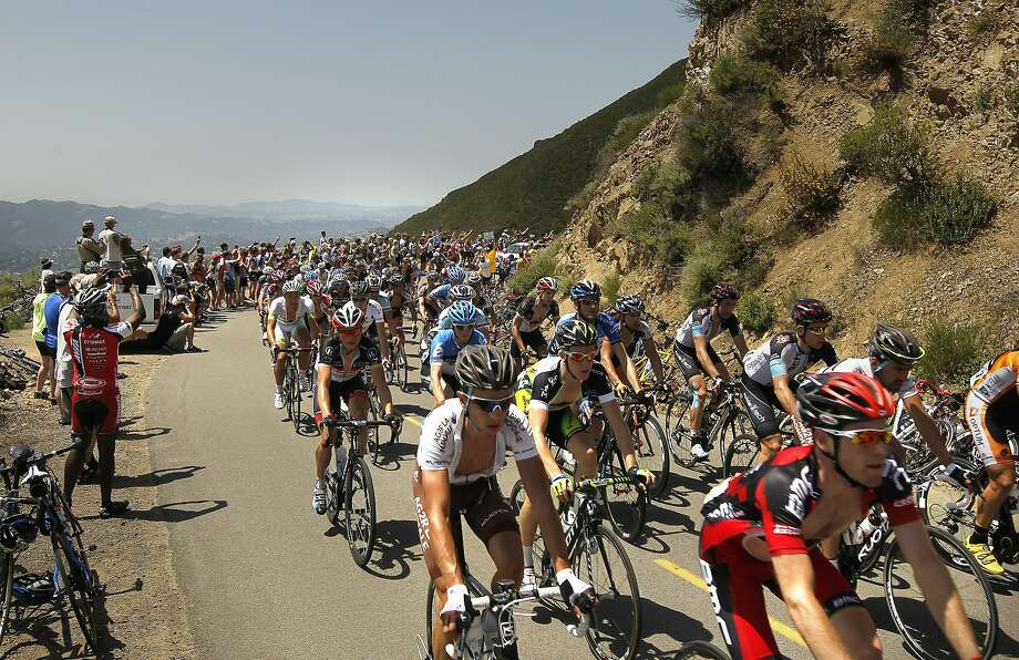 Riders with the peloton, make the climb up Mt. Diablo during Stage 3 of the Amgen Tour of California, on Tuesday May 15, 2012, in Danville, Ca. Photo: Michael Macor, The Chronicle
