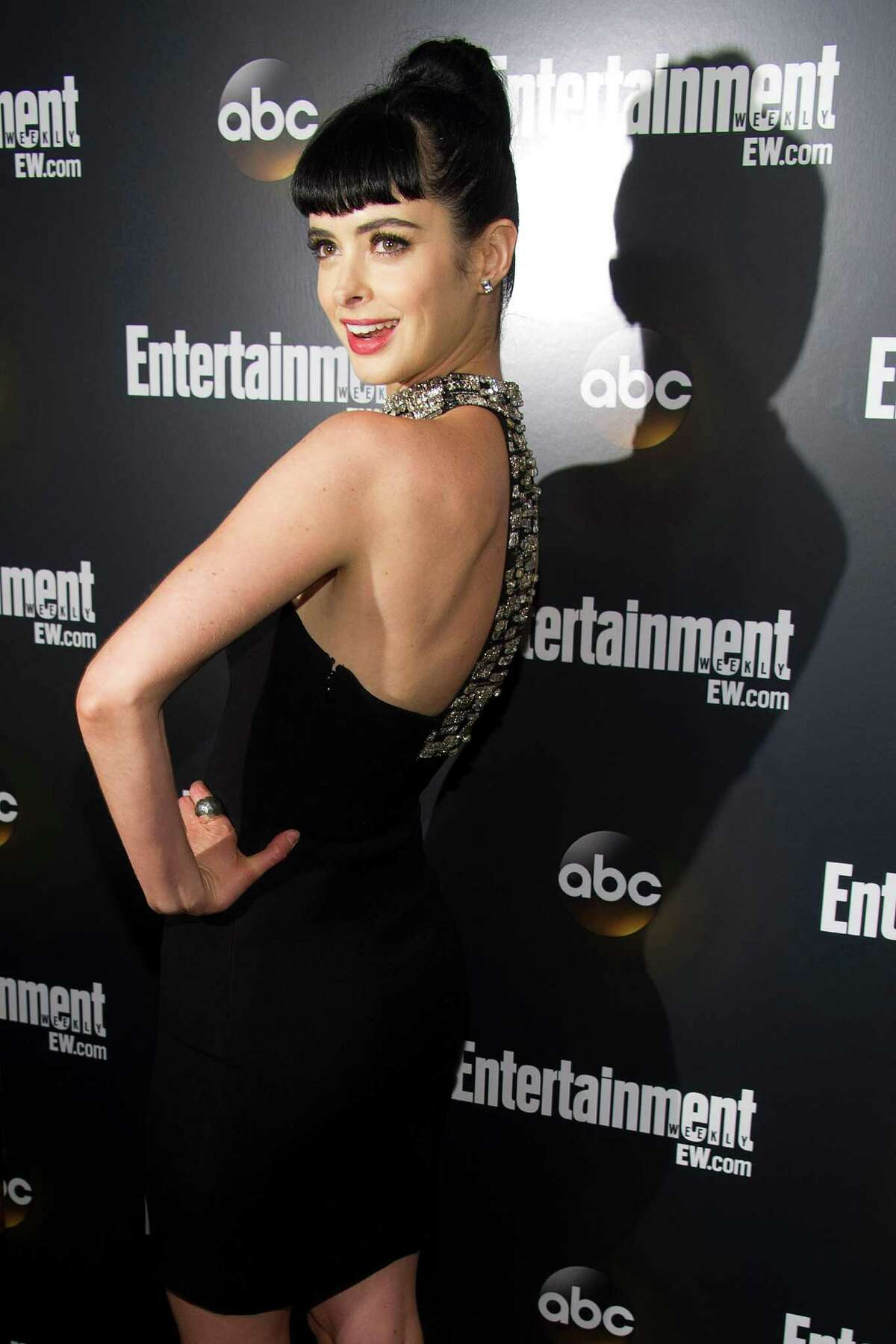 Krysten Ritter attends the Entertainment Weekly and ABC Upfronts Party in New York, Tuesday, May 15, 2012.