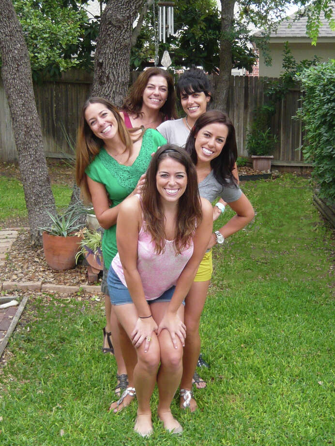 NOW: 2012, Davis, Calif. (front to back) Carolina M. Giavedoni, Alejandra M. Giavedoni, Florencia M. Giavedoni, Veronica M. Giavedoni, and their mother Laura M. Parodi.Details on how to submit your photos Photo: Courtesy