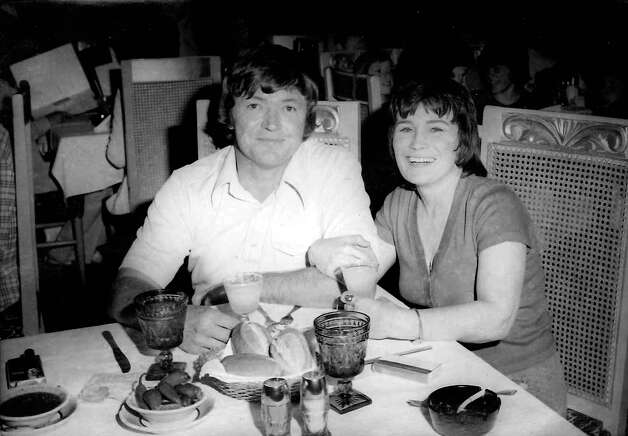 THEN: Harry Huggins and Patricia Gresham Lalla in Progreso, Mexico dining at Arturos Restaurant, March 12, 1975. Photo: COURTESY