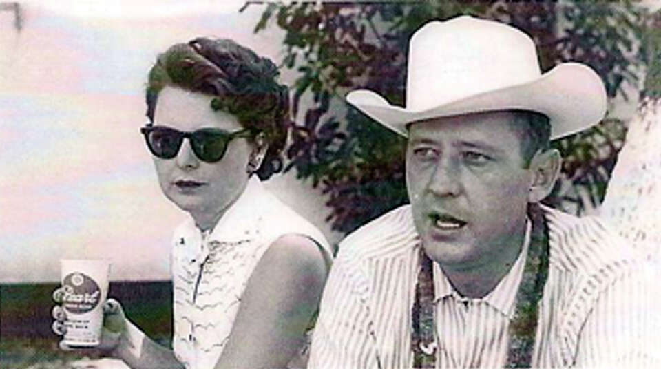 THEN: Alene and Robert (Bob) Boerner at a company picnic at Lost Valley Dude Ranch in Bandera, 1959.