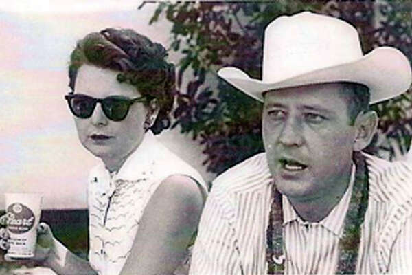 Alene and Robert (Bob) Boerner at a company picnic at Lost Valley Dude Ranch in Bandera, 1959.
