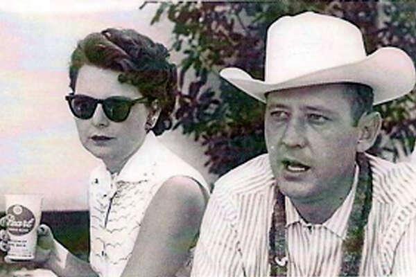 Alene and Robert (Bob) Boerner at a company picnic at Lost Valley Dude Ranch in Bandera, 1959.