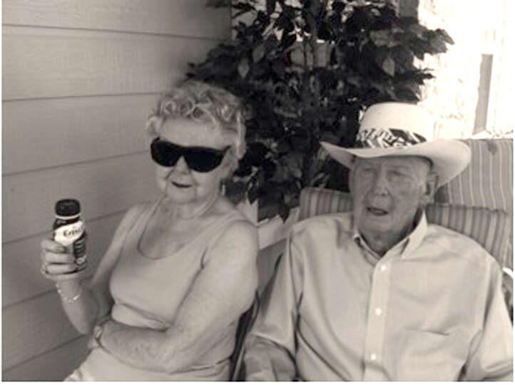 NOW: Alene and Robert (Bob) Boerner at Independance Village in San Antonio, 2012.