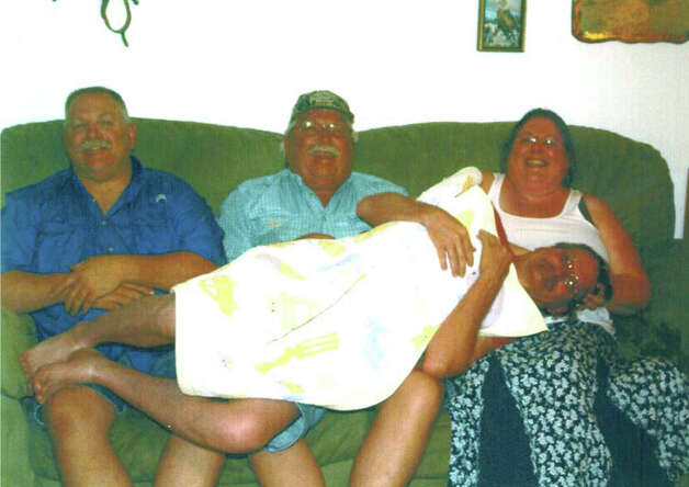 NOW: Siblings Roger (from left) Chuck, Jeani and Randy Olson in 2009. Photo: Dick, COURTESY