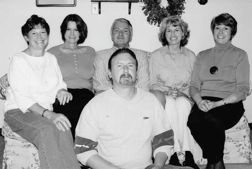 NOW: Siblings (back row left to right) Jeanette Moriarty, Mary Deschler, Larry Deschler, Donna Rosen