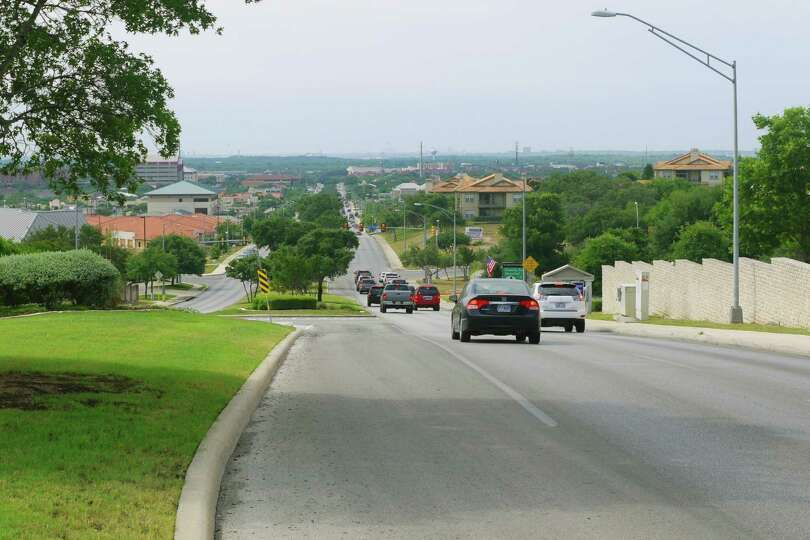 NOW: Stone Oak Parkway, looking south from just north of Knights Cross, May, 2012. Photo by Al Crouc