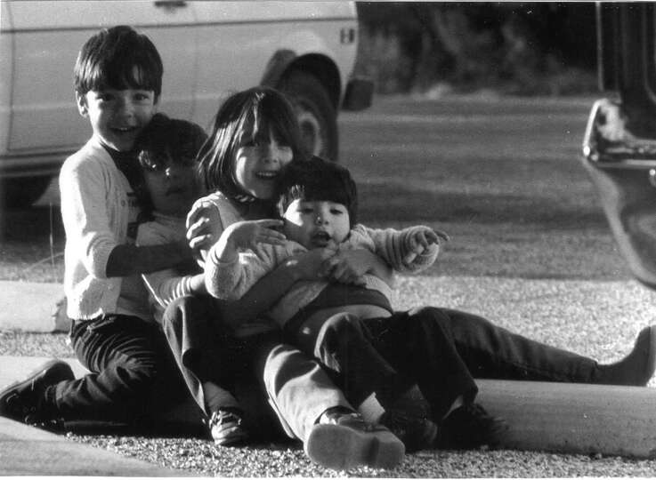 THEN: The Hernandez Siblings (left to right) George, Rachel, Elizabeth, David Hernandez near Pederna