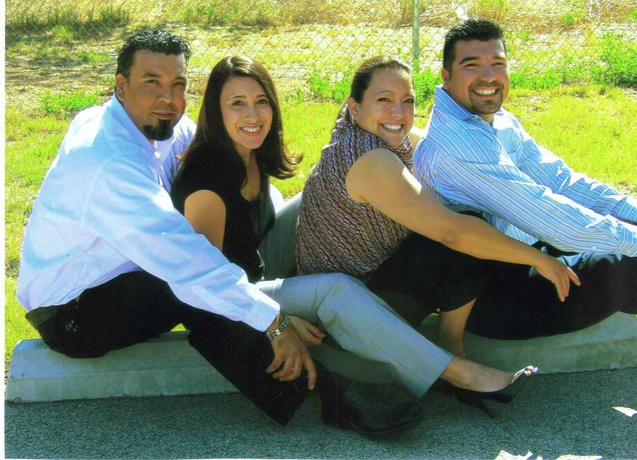 NOW: Hernandez Siblings (left to right) George, Rachel, Elizabeth, David Hernandez in 2010. Photo: COURTESY