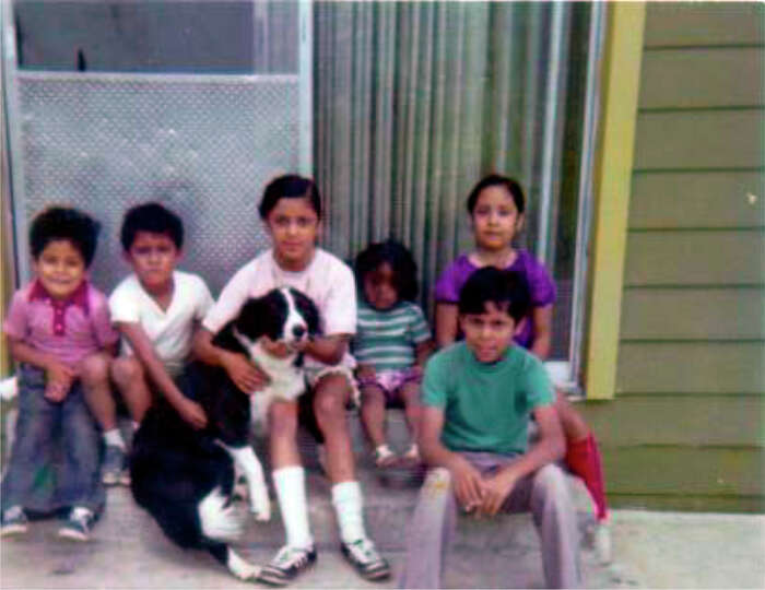 THEN: Top row, from left, Javier Arguello, Sergio Arguello, Rosie Arguello, Vicki Arguello Kilaptric