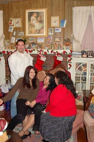 NOW: Siblings (left to right) Daniel Pina, Brenda Pina, Rosemary Pina, and Michelle Pina Theall in Dec. 2007. From Michelle Pina Theall: The first picture has always been one of our mom's favorites of us.  That 
