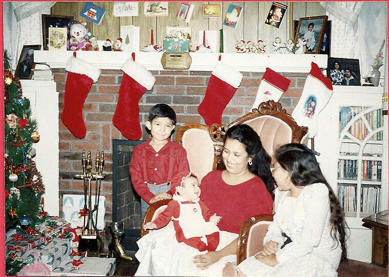 THEN: Siblings (left to right) Daniel, Brenda, Rosemary and Michelle Pina. Dec. 24, 1988.