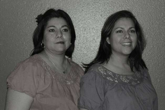 NOW: Sisters Sandra Silva Costilla and Synthia Silva Avila in San Antonio, 2012. From Synthia: Not only are we sisters, but also front door neighbors, godparents to each other 