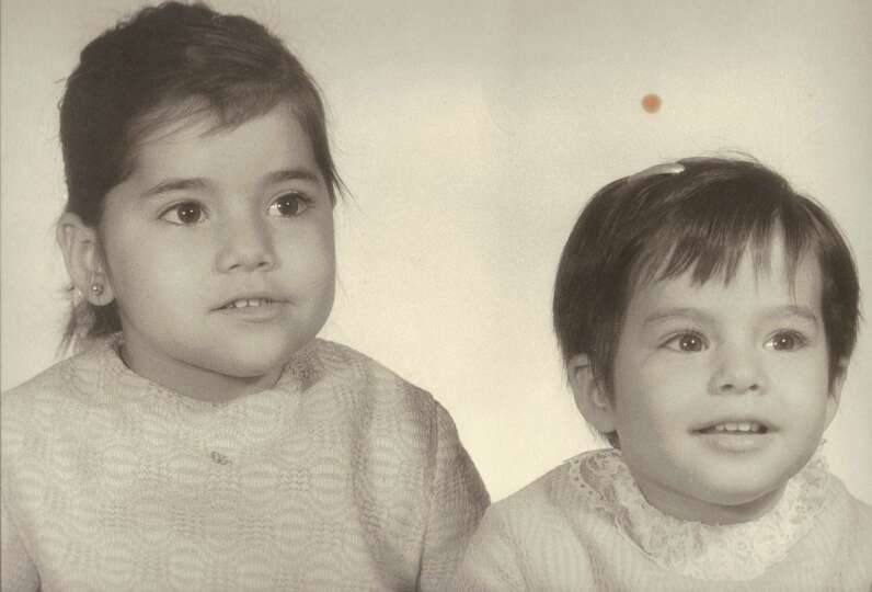 THEN: Sisters Sandra and Synthia Avila, in Eagle Pass. c. 1972