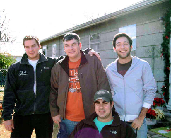 NOW: Brothers and cousin (Seated) Blaine Ingram; Back (L-R) Austin Ingram, Jeremy Ingram, Matthew Kusek, April 2011.. Photo: COURTESY