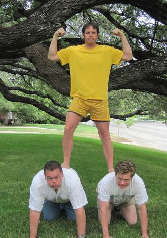 NOW: Brothers Frank Dickson (top), Merritt Clements (right), Jim Clements (left), 2012 Photo: COURTESY
