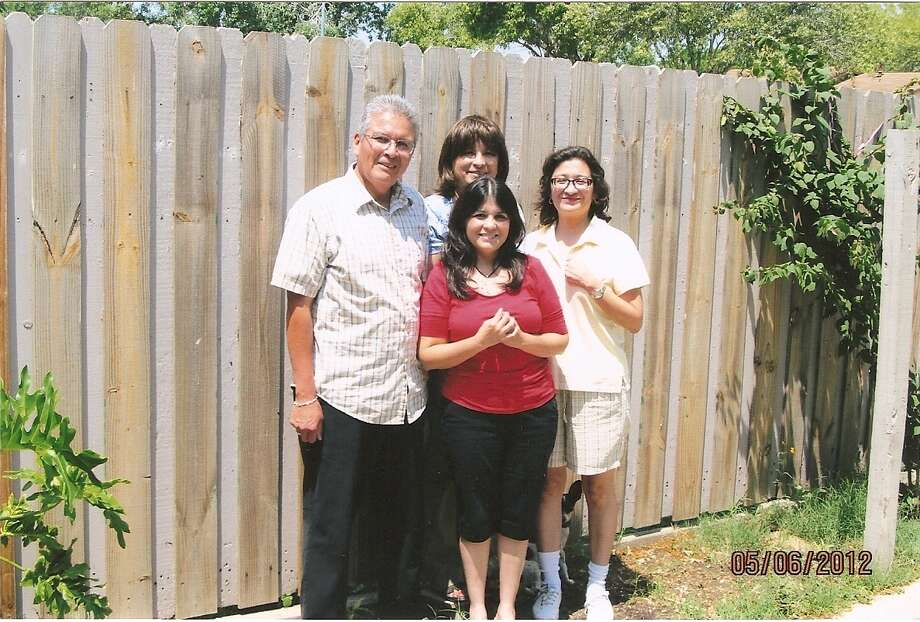 NOW: Siblings Mario Flores (clockwise from left), Carmela Longoria, Marcelina Gonzales and Barbara Siller in 2012. Photo: COURTESY