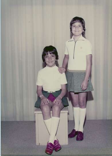 THEN: Yvonne Galindo (standing), 9, and Michelle Galindo Russi, 8,  summer of 1972.