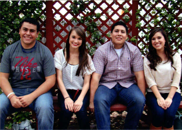 NOW: Matt Carrillo (from left), 17, Sarah Cook, 18, Jakob Carillo, 20, Kristin Cook, 22, in 2011 Photo: COURTESY
