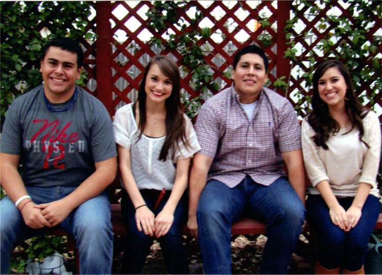 NOW: Matt Carrillo (from left), 17, Sarah Cook, 18, Jakob Carillo, 20, Kristin Cook, 22, in 2011