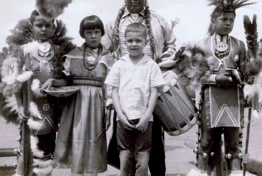 Then: During a summer vacation to Colorado in 1955 at the age of 6, Don Reep had his picture taken with 3 Native American children. Photo: Picasa, COURTESY