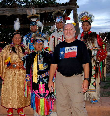 NOW: During a summer vacation to Colorado in 2010 at the age of 61, Don Reep had his picture taken with 3 Native American children and 2 adults (maybe the adults were the children in the THEN picture!!) at the Cortez Cultural Center in Cortez, Colorado. Photo: Picasa, COURTESY