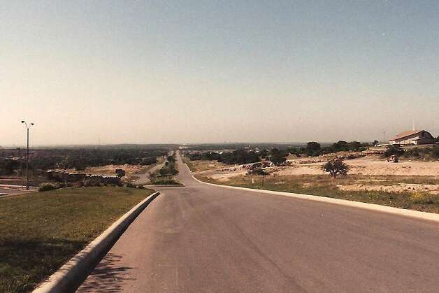 THEN: Stone Oak Parkway, looking south from just north of Knights Cross, April, 1987. Photo by Al Crouch. Photo: COURTESY