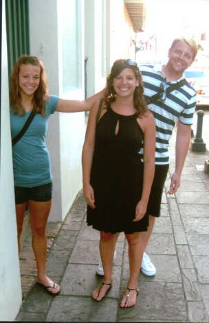 NOW: Siblings Kyle (from left), Kara and Kent Zambrana in San Juan Puerto Rico, 2009. Photo: COURTESY